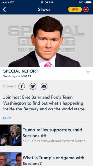 iPhone、iPadアプリ「Fox News: Live Breaking News」のスクリーンショット 4枚目