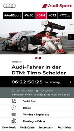 iPhone、iPadアプリ「Audi Sport」のスクリーンショット 2枚目