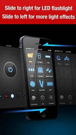 iPhone、iPadアプリ「懐中電灯(iHandy Flashlight)」のスクリーンショット 4枚目