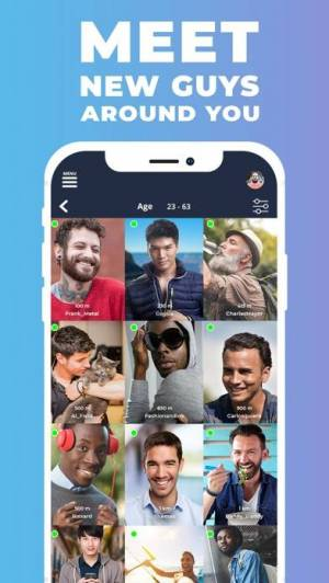 iPhone、iPadアプリ「Gaydar - Gay Dating and Chat」のスクリーンショット 1枚目