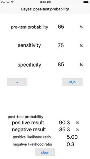 iPhone、iPadアプリ「事後確率計算機」のスクリーンショット 1枚目