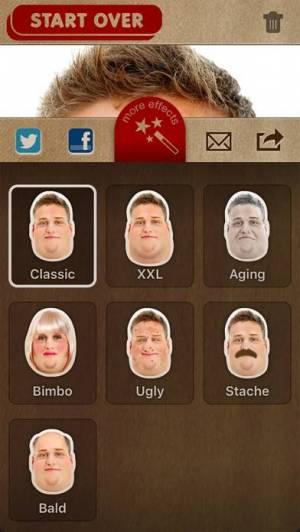iPhone、iPadアプリ「FatBooth」のスクリーンショット 5枚目