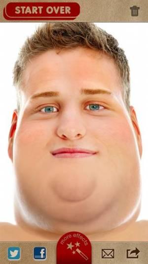 iPhone、iPadアプリ「FatBooth」のスクリーンショット 4枚目
