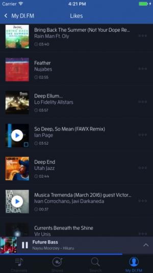 iPhone、iPadアプリ「DI.FM Radio」のスクリーンショット 5枚目