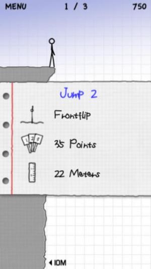 iPhone、iPadアプリ「Stickman Cliff Diving」のスクリーンショット 2枚目