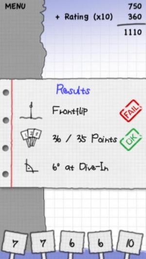 iPhone、iPadアプリ「Stickman Cliff Diving」のスクリーンショット 5枚目