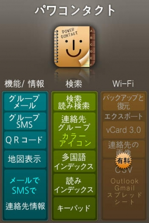 iPhone、iPadアプリ「パワーコンタクトLE(グループ 連絡先):PowerContactLE」のスクリーンショット 2枚目