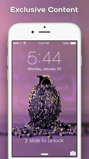 iPhone、iPadアプリ「Cool 3D Wallpapers & Backgrounds - Best Pictures For Home & Lock Screen」のスクリーンショット 4枚目