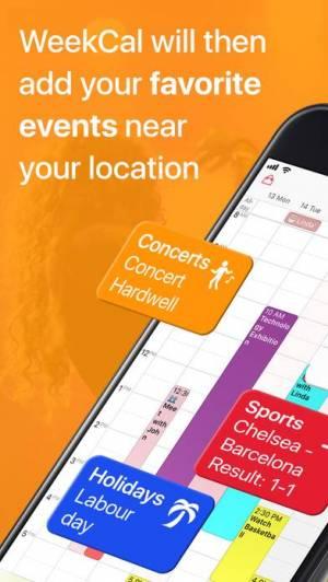 iPhone、iPadアプリ「WeekCal」のスクリーンショット 5枚目