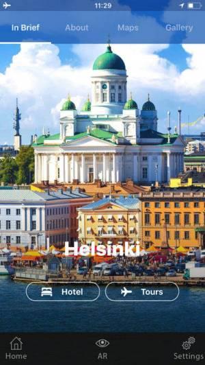 iPhone、iPadアプリ「ヘルシンキ 旅行 ガイド &マップ」のスクリーンショット 1枚目
