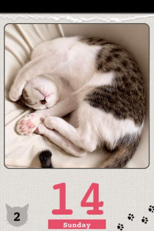 iPhone、iPadアプリ「かれんにゃーLite 猫の日めくりカレンダー」のスクリーンショット 5枚目