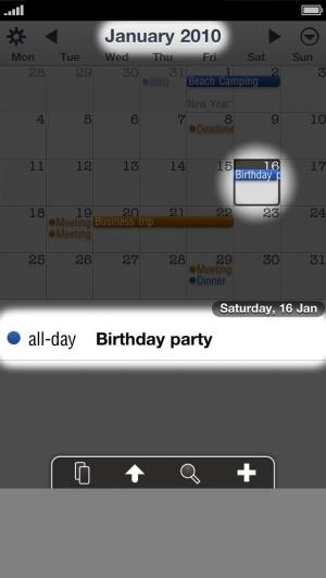 iPhone、iPadアプリ「CCal 10 - Sync with Google Calendar™」のスクリーンショット 5枚目