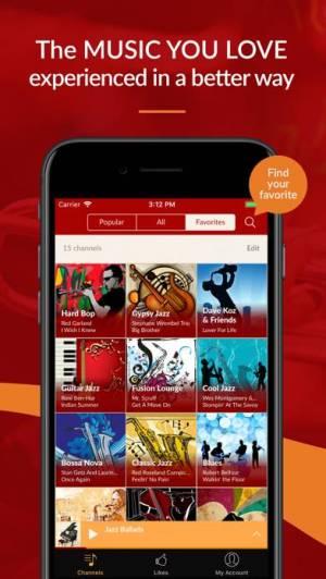 iPhone、iPadアプリ「Jazz Radio - Enjoy Great Music」のスクリーンショット 4枚目