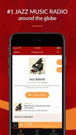 iPhone、iPadアプリ「Jazz Radio - Enjoy Great Music」のスクリーンショット 2枚目