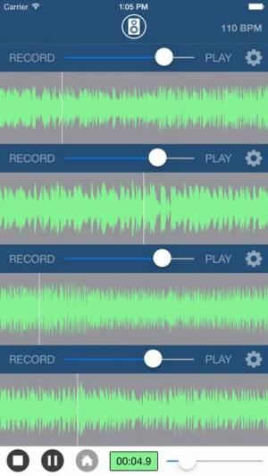 iPhone、iPadアプリ「Multi Track Song Recorder」のスクリーンショット 1枚目