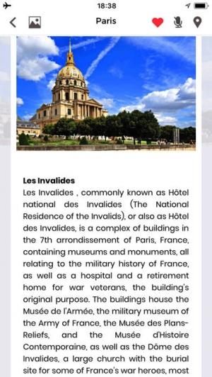 iPhone、iPadアプリ「パリ旅行ガイド フランス」のスクリーンショット 3枚目