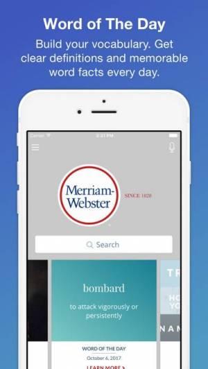 iPhone、iPadアプリ「Merriam-Webster Dictionary」のスクリーンショット 3枚目