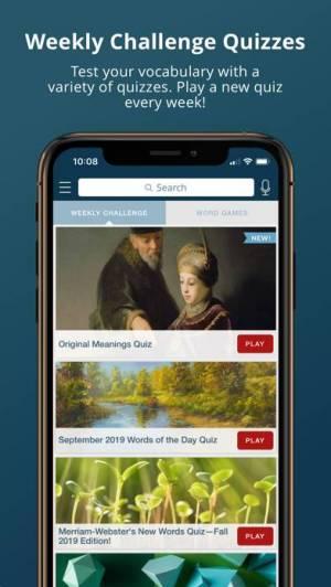 iPhone、iPadアプリ「Merriam-Webster Dictionary」のスクリーンショット 4枚目