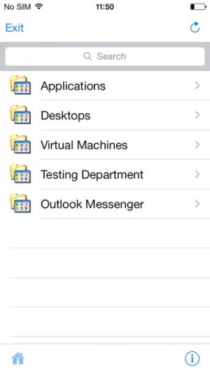 iPhone、iPadアプリ「Parallels 2X RDP/Remote Desktop」のスクリーンショット 2枚目