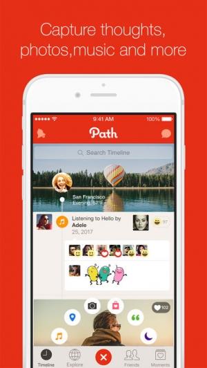 iPhone、iPadアプリ「Path」のスクリーンショット 1枚目