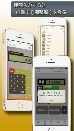 iPhone、iPadアプリ「残額メモ」のスクリーンショット 3枚目