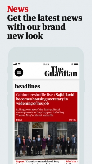 iPhone、iPadアプリ「The Guardian」のスクリーンショット 1枚目