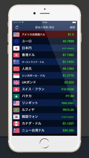 iPhone、iPadアプリ「為替情報 Lite」のスクリーンショット 1枚目