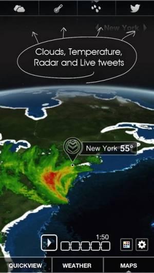 iPhone、iPadアプリ「Clear Day® - Weather HD Lite」のスクリーンショット 4枚目