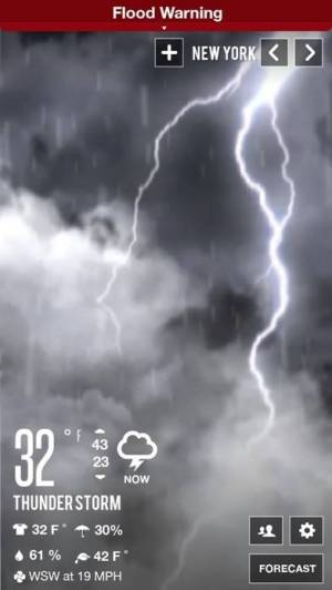 iPhone、iPadアプリ「Clear Day® - Weather HD Lite」のスクリーンショット 5枚目