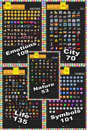 iPhone、iPadアプリ「絵文字 - Emoji ☺☀☆☄ HD」のスクリーンショット 3枚目