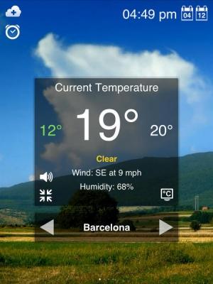 iPhone、iPadアプリ「天気モーションHD」のスクリーンショット 2枚目