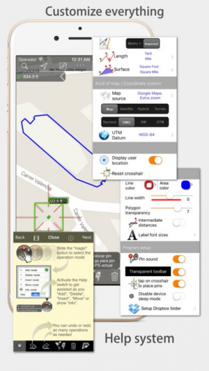 iPhone、iPadアプリ「地図計測」のスクリーンショット 5枚目