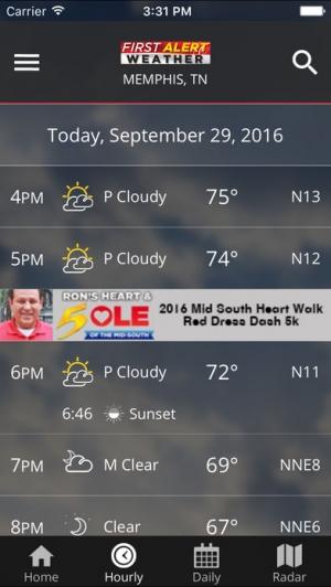 iPhone、iPadアプリ「Action News 5 Memphis Weather」のスクリーンショット 4枚目