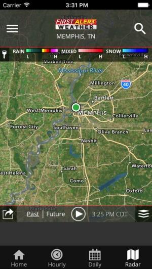 iPhone、iPadアプリ「Action News 5 Memphis Weather」のスクリーンショット 3枚目