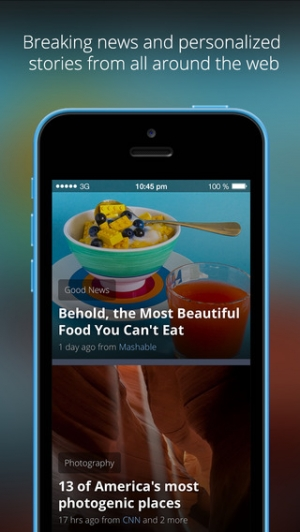 iPhone、iPadアプリ「News360: Your Personalized News Reader」のスクリーンショット 1枚目