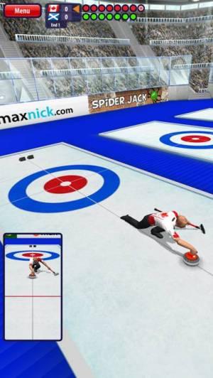 iPhone、iPadアプリ「Curling3D」のスクリーンショット 2枚目
