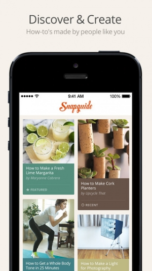 iPhone、iPadアプリ「Snapguide - How-tos, Recipes, Fashion, Crafts, iPhone Tips and Lifehacks」のスクリーンショット 1枚目