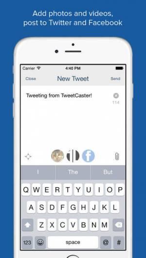 iPhone、iPadアプリ「TweetCaster Pro for Twitter」のスクリーンショット 4枚目