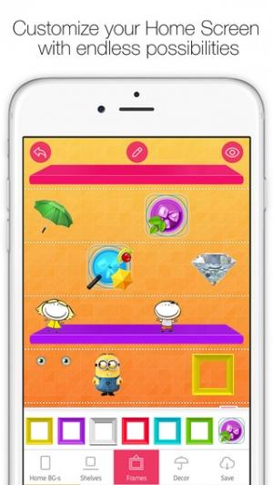 iPhone、iPadアプリ「Icon Skins Builder - カスタムホーム・ロックスクリーンバックグラウンド・壁紙の作成」のスクリーンショット 1枚目