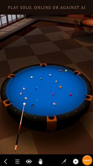 iPhone、iPadアプリ「Pool Break Lite - 3Dビリヤードやスヌーカー」のスクリーンショット 1枚目
