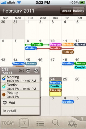 iPhone、iPadアプリ「SmartCalendar(Eng)」のスクリーンショット 1枚目