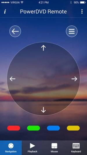 iPhone、iPadアプリ「PowerDVD Remote App」のスクリーンショット 2枚目