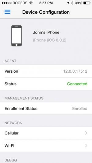 iPhone、iPadアプリ「SOTI MobiControl」のスクリーンショット 5枚目