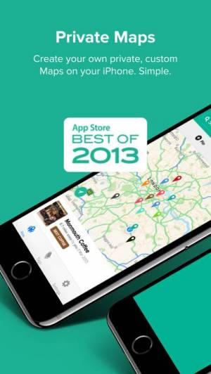 iPhone、iPadアプリ「Pin Drop - Custom Private Maps」のスクリーンショット 1枚目