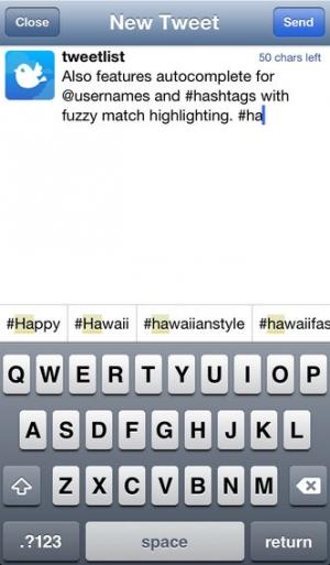 iPhone、iPadアプリ「TweetList for Twitter」のスクリーンショット 2枚目