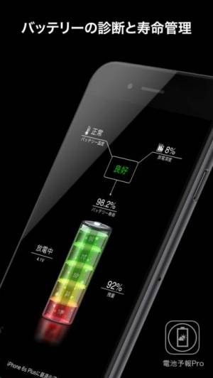 iPhone、iPadアプリ「電池予報 Pro 3」のスクリーンショット 1枚目