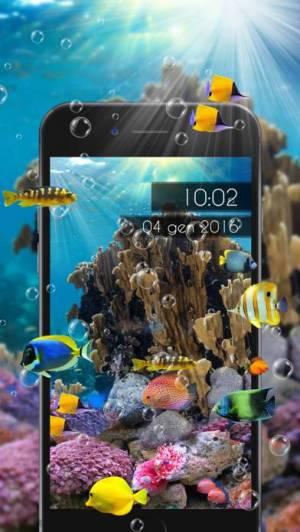 iPhone、iPadアプリ「Amazing Aquarium Clock LITE」のスクリーンショット 4枚目