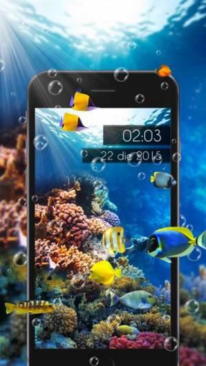 iPhone、iPadアプリ「Amazing Aquarium Clock LITE」のスクリーンショット 3枚目