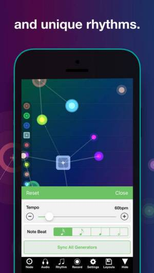 iPhone、iPadアプリ「NodeBeat - Playful Music」のスクリーンショット 5枚目