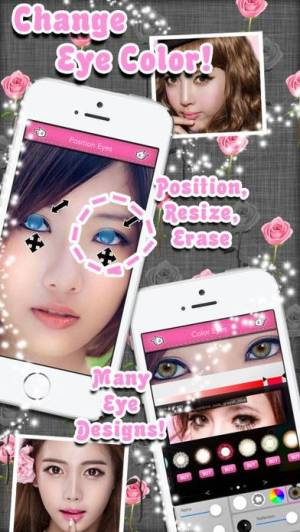 iPhone、iPadアプリ「Eye Colorizer - Color Contact Lens Cosplay Effect」のスクリーンショット 1枚目